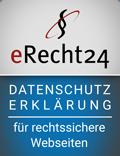 eRecht24-Siegel - Datenschutzerklärung nach Datenschutzgrundverordnung DSGVO