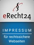 eRecht24-Siegel - Impressum nach Datenschutzgrundverordnung DSGVO